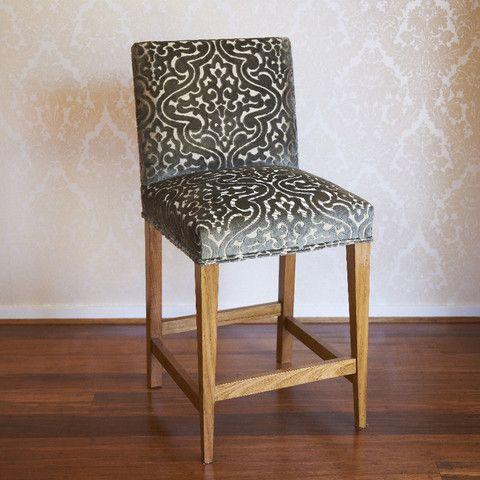 Harry Bar stool with Back #barstool #furniture #custommade #fabric #interiordesign