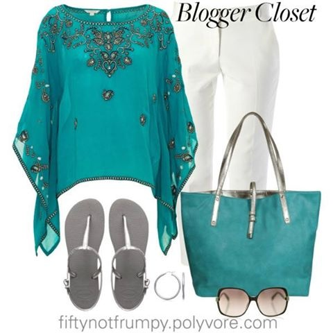 Fifty Not Frumpy Polyvore | Photo: I entered a contest called the Blogger Closet on Polyvore.