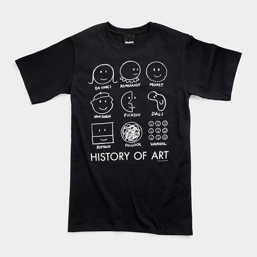 """""""History of Art"""" tshirt from the MOMA museum store #art #want"""