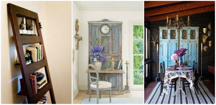 12 kreatív ötlet régi ajtók újrahasznosítására