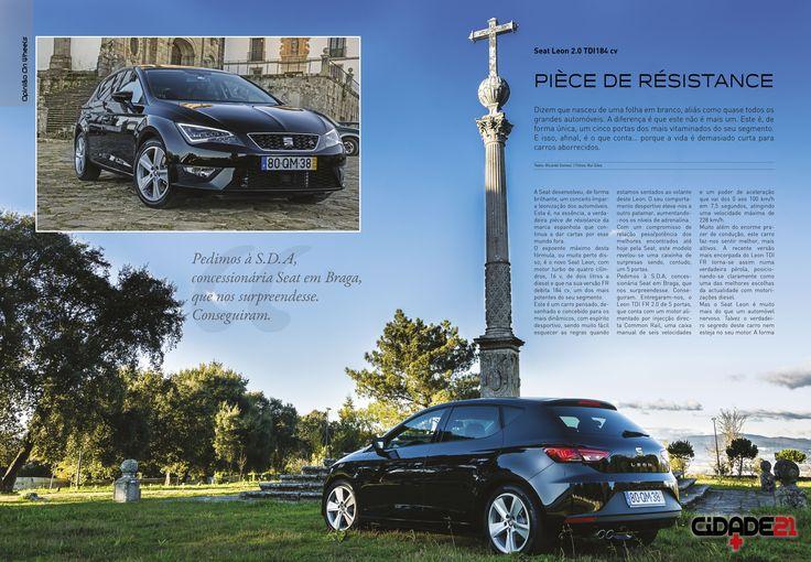 OPINIÃO ON WHEELS - O novo Seat Leon FR 2.0 TDI 484 cv. Proposto pela S.D.A.e testado por Ricardo Gomes.