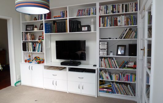 home entertainment unit and shelving specific to needs - Living Room, Wellington