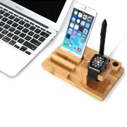 Made with attractively sturdy and durable bamboo wood, water resistant and anti-moisture. Compared with other stand, it is more healthier and environmental. It can be used as a Charging Stand for iPhone, iPad, and iWatch.   Reserved precise hole site hold watch, cell phone, tablet stably and provide comfortable viewing. Charging cradle for iPhone and iWatch.   #ricepower #ipad #iphone #applewatch #iphonestand #applewatchstand #applewatchdock #iphonedock