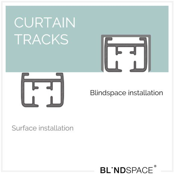 Blindspace has developed a simple solution to conceal hardware for manual and motorised curtains, including curtain tracks, drive and gear housings.     The recessed track holder can house curtain tracks from companies such as Somfy, Lutron, Goelst, and Silent Gliss.     #drapes #interior #design #somfy #silentgliss #lutron