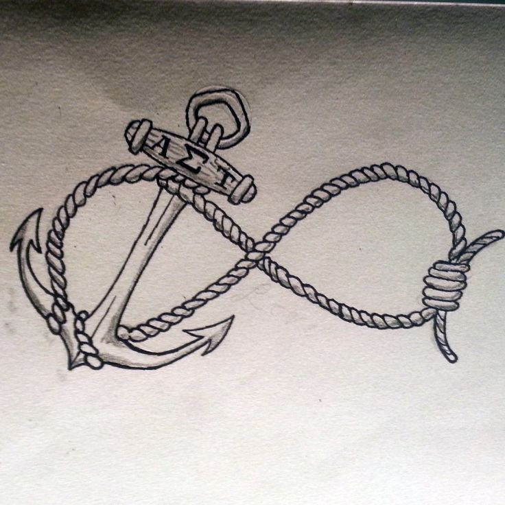 Anchor infinity tattoo