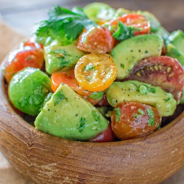 Healthy and so flavorful, this Tomato Avocado Salad makes a great addition to your dinner or lunch. This is one of the most loved recipes in my family!