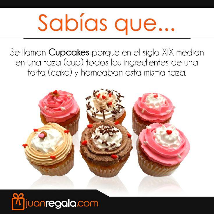 Sabias que... Se llaman CupCakes porque en el siglo XIX median en una taza (Cup) todos los ingredientes de una torta (Cake) y horneaban esta misma taza.