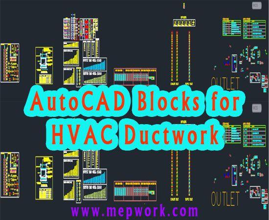 Free AutoCAD Blocks for HVAC Ductwork - DWG   Hvac ductwork, Duct work, Hvac  designPinterest