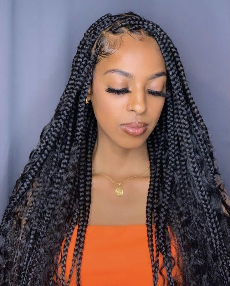 Weave Hairstyles Braided Black Women Braids With Curls Girls Hairstyles Braids Black Girl Braided Hairstyles