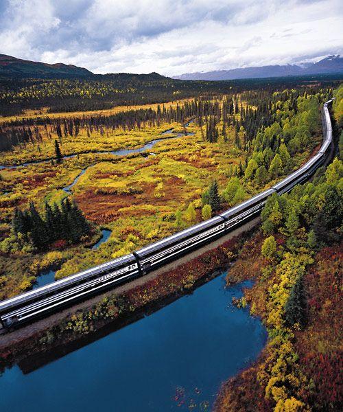 #Alaska Railroad - Train from Anchorage to Denali National Park                                                                                                                                                                                 More