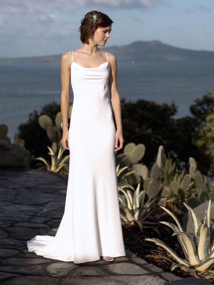 Sexy Formal Spaghetti Straps Square Neckline Deep Backless Wedding Dress