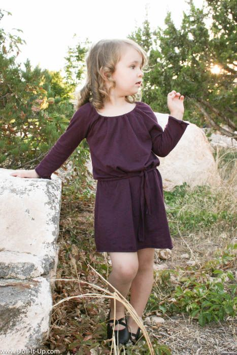 Sew a girl's dress from a women's shirt- no pattern needed!