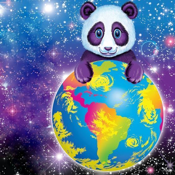 Lisa Frank Panda hugging the world!