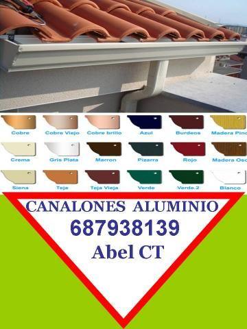 Canalones de Aluminio en Murcia 687938139 Fuente Alamo - Murcia - Tejados y fachadas