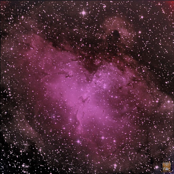 Eagle Nebula,M16 in the Constellation of Serpens through the 20'' scope