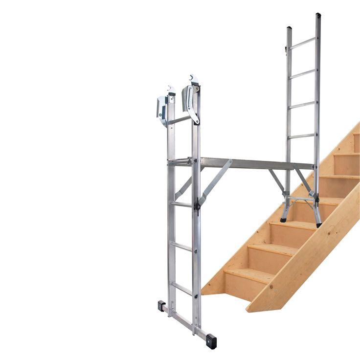 Werner Aluminium 5-Way Combination Ladder, (H)3.69M   Departments   DIY at B&Q