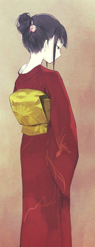 Kimonos are so pretty, I always wanted to wear one...