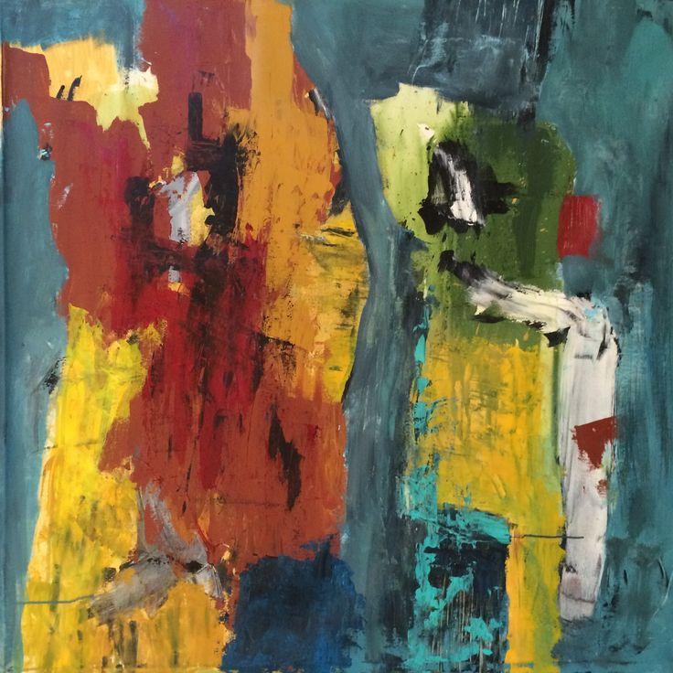 Kell Jarner. Acryl på lærred, 100 x 100 cm, 2014