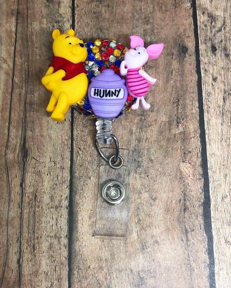 Winnie the Pooh Retractable Nursing ID Badge Holders , Retractable