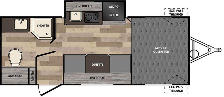 My favorite floor plan Winnie Drop   Floorplans   Winnebago RVs