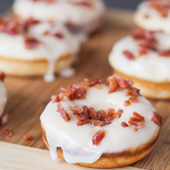 "Maple Bacon Donuts a.k.a. ""The Elvis"" for the true bacon lovers, the true bacon enthusiasts, this is for Bacon Nation! You will either love or hate this!"