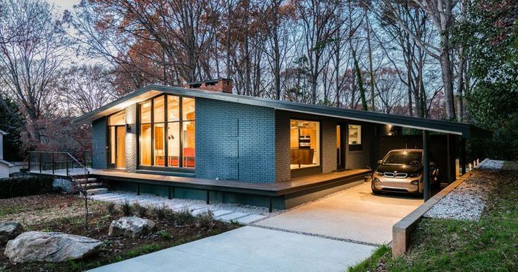 This Mid-Century Modern House In North Carolina Received A Fresh Update #ecohouserenovation
