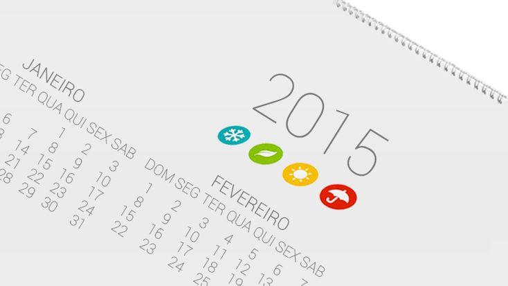 """Descrição: Ilustração Calendário 2015  Artigo: """"Reposição dos feriados? Esquerda e Ribeiro e Castro querem, mas maioria ainda não"""""""