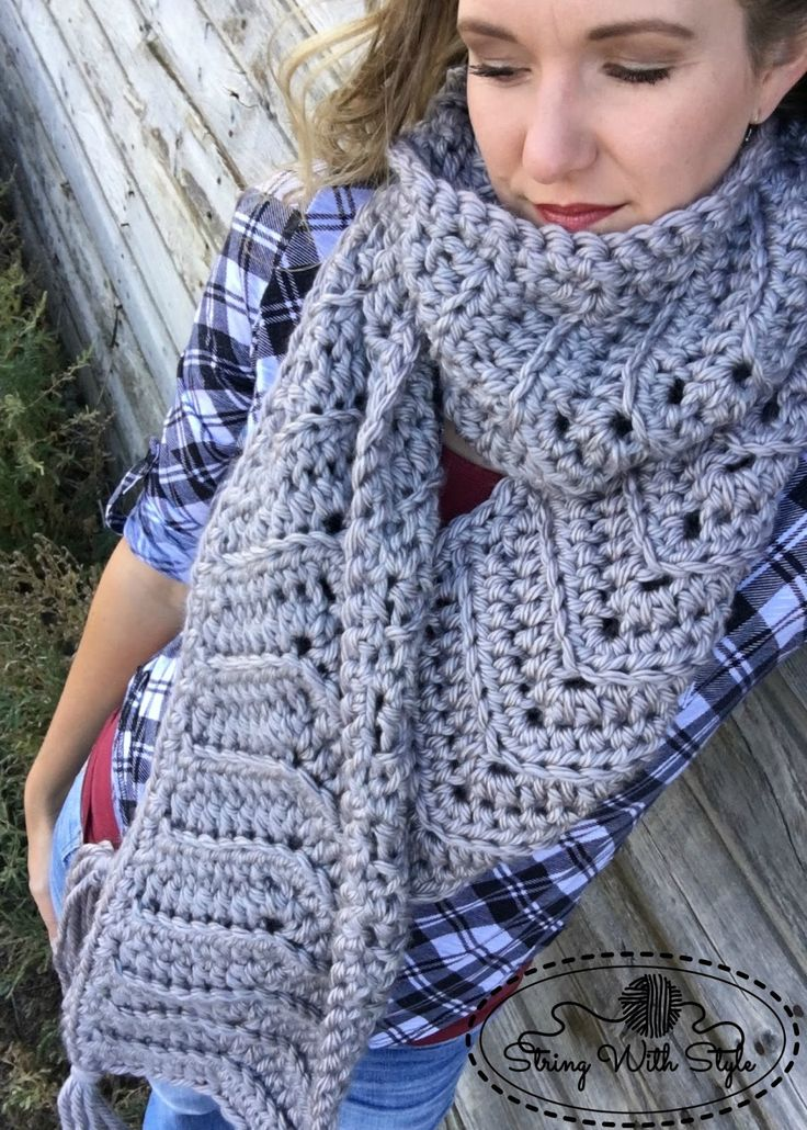 Chevron Love Super Scarf - free crochet pattern from String With Style