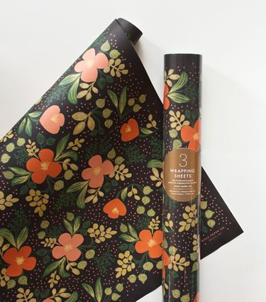 Midnight Floral Wrapping Sheets ( LOVE!)