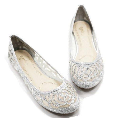 Sparkly Silver Wedding Shoes For Super Snazzy Feet Silver Wedding Shoes Silver Flat Shoes Silver Shoes