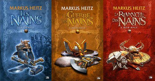 Les nains de Markus Heitz, une super trilogie sur l'histoire naine et ses guerres. Le destin des nains a complété récemment cette série.