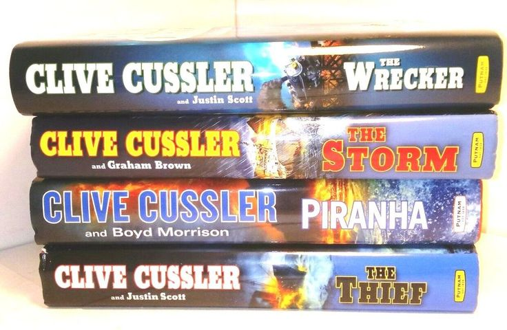 Clive Cussler First Editions Lot of 4 fiction hardback books mystery adventure