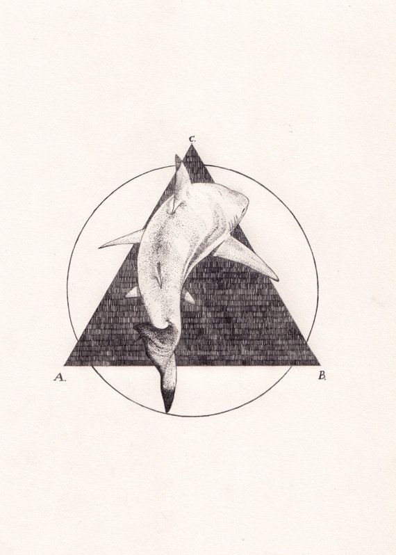 SHARK (Triangle) - Original Drawing