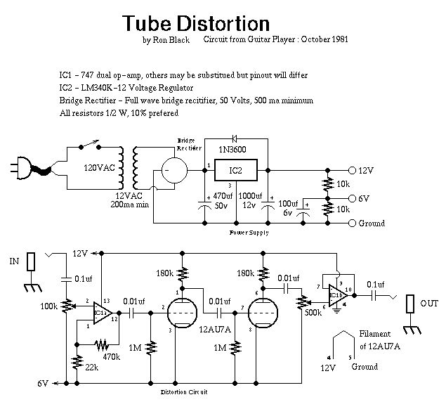 Tube Distortion Schematic