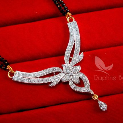 Daphne Zircon Studded Designer Mangalsutra for Women, Wedding Jewelry, Gift for Wife - PENDANT