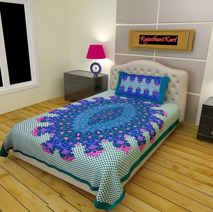 Buy RajasthaniKart 100% Cotton Single Bedsheet and 1 Pillow Cover Online at Low Prices in India - Amazon.in