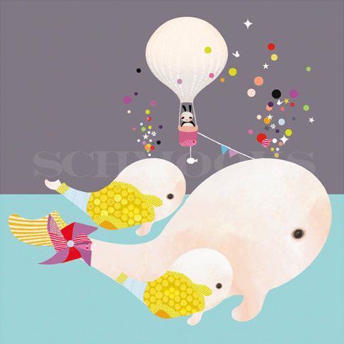 'Beluga Gumballs' by Schmooks, via Etsy.
