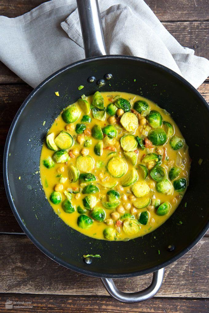 Rosenkohl-Curry mit Kichererbsen