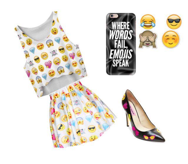 """""""Emoji  #10 ( Tori)"""" by tori-kaylabeauty ❤ liked on Polyvore featuring Chicnova Fashion, Betsey Johnson and Casetify"""