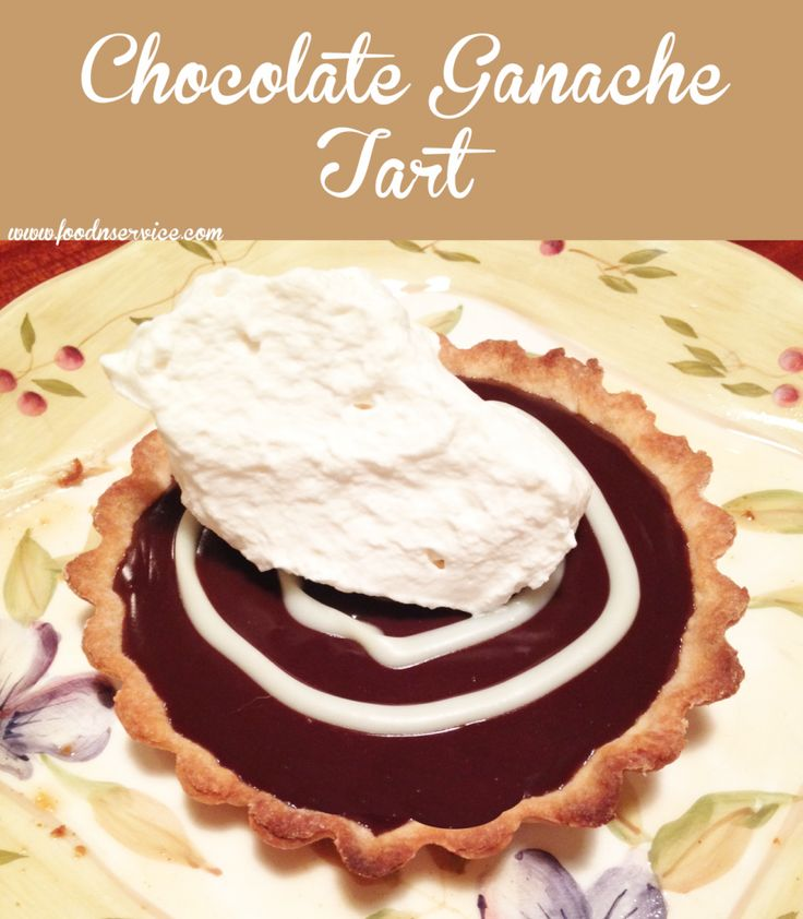 Chocolate Ganache Tart Recipe. #recipes #dessert