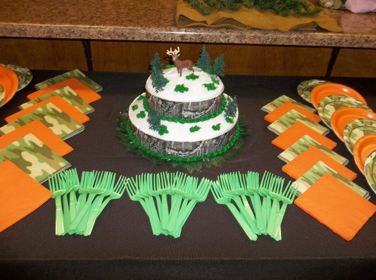 camo baby shower camo cake display hunting theme baby shower