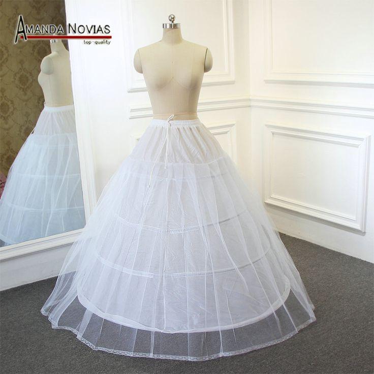 高品質ペチコート4リングワンチュール用夜会服のウェディングドレスの長さ115センチ