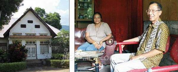 King Larantuka (Flores, Indonesia) : Don Andre III and Empress Maria Marthinus DVG Ronny Naema in her living room.