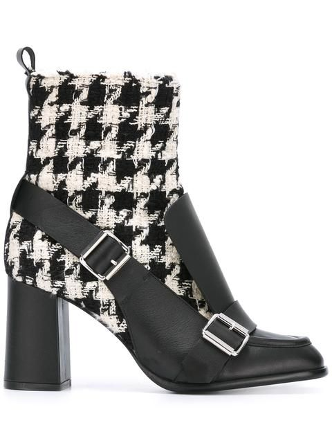 Shop MSGM tweed biker ankle boots  in First Boutique from the world's best independent boutiques at farfetch.com. Shop 400 boutiques at one address.