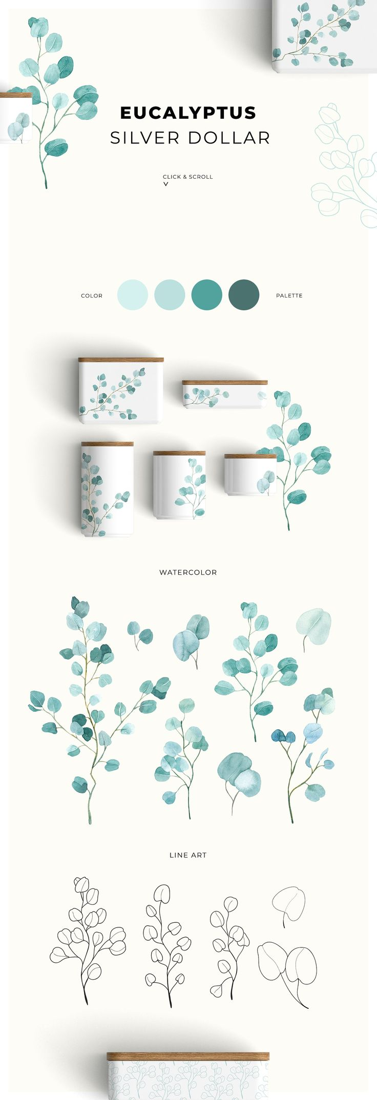 TRENDY GREENERY by Lana Elanor on Creative Market …
