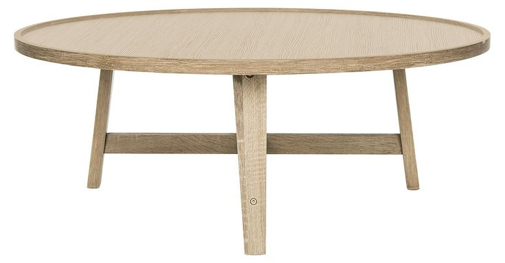 Beautifully designed with an architectural base and gallery-rimmed top, this coffee table embraces a minimalist look that still delivers on style.