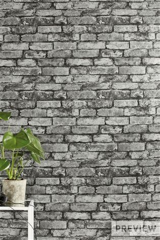 Buy Grey Metallic Brick Wallpaper from the Next UK online shop