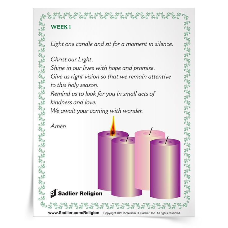 Advent's light is a beacon of hope and a call to trust in the presence of Christ's love shining in the midst of our darkest days. We invite you to download Prayer for Lighting the Advent Wreath Prayer Card to use at home or in your parish.