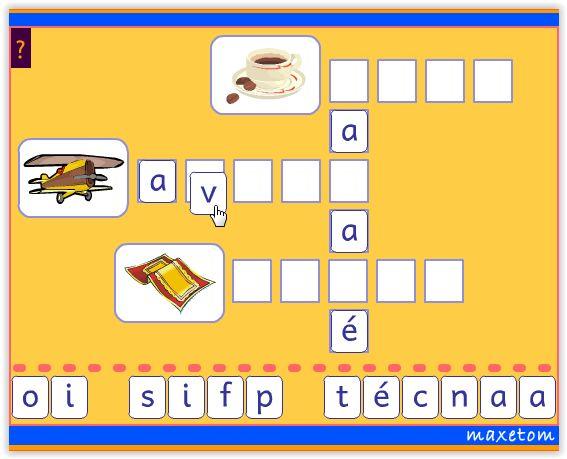 Exercice en ligne pour apprendre à lire - CP -  Mots fléchés des mots en a