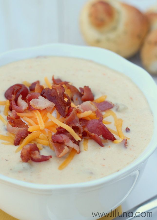 Delicious Baked Potato Soup Recipe just like Disneyland's!